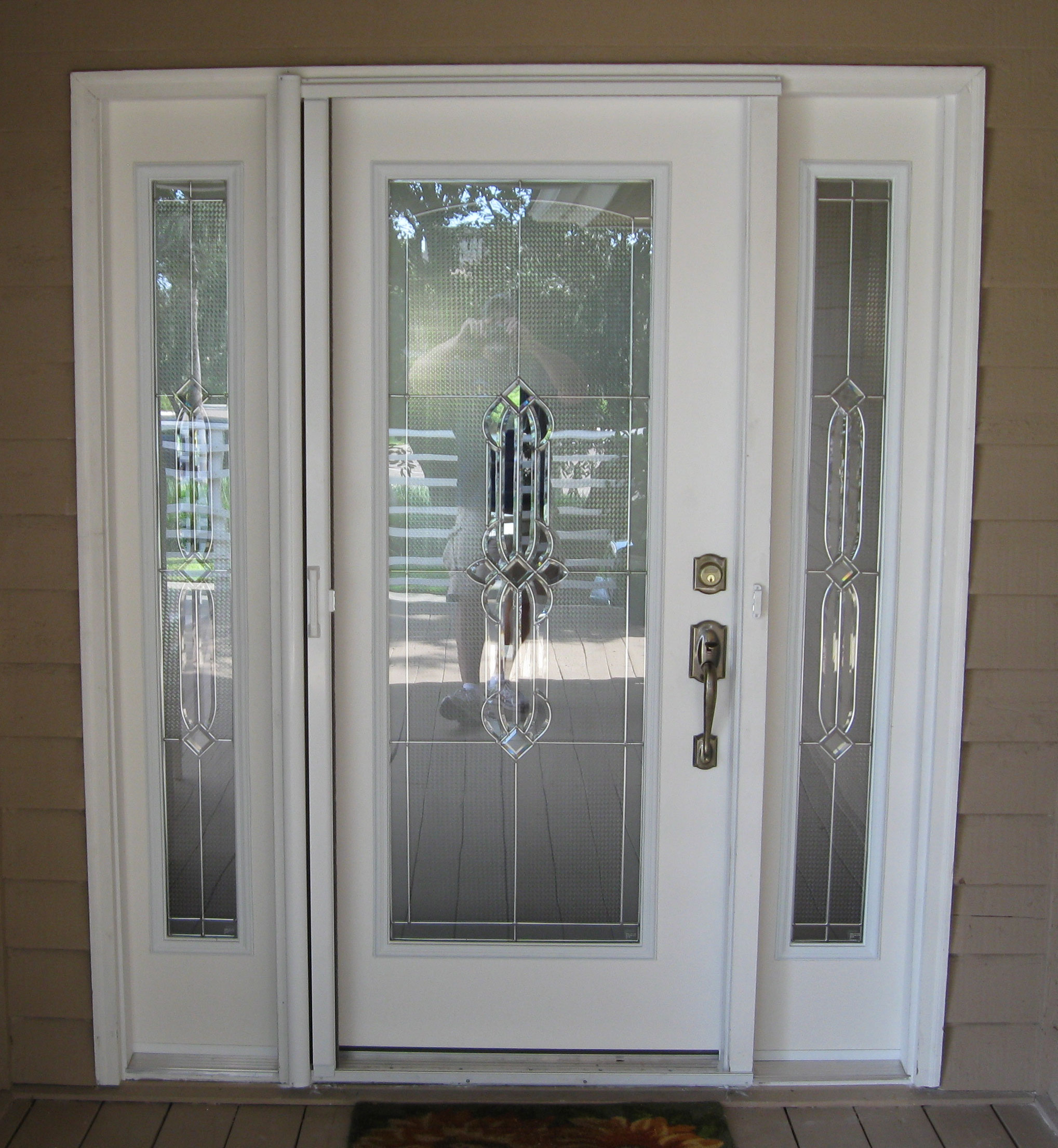 Gulfside glass and mirror tarpon springs florida for Decorative entrance doors
